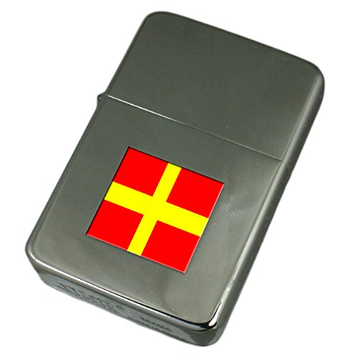 Engraved Lighter Messina City Italy Flag by Select Gifts