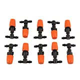10pcs Plastic Adjustable Atomizing Sprinkler Nozzles Greenhouse Garden Irrigation