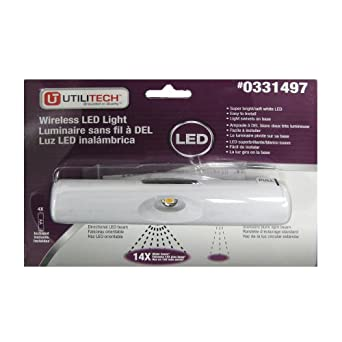 Utilitech 6 in battery under cabinet led light bar amazon utilitech 6 in battery under cabinet led light bar mozeypictures Choice Image