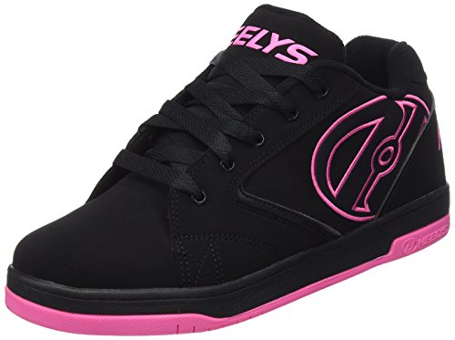 - Heelys Propel Skate Shoe (Toddler/Little Kid/Big Kid), Black/Pink, 7 M US Big Kid