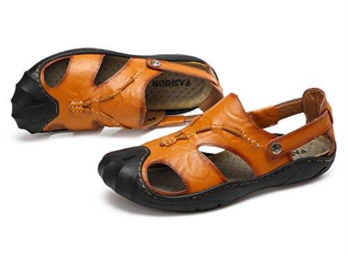 Pelle da uomo Sandali Sportivi Shoes Trekking da Sandali PU passeggio Escursionismo da HN Scarpe brown spiaggia qgwUaz6n