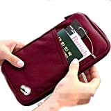 حقيبة سفر صغيرة لحمل جواز السفر والبطاقات المصرفية والهوية الشخصية والنقود والوثائق