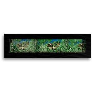 Aussie Aquariums AUSSIE-PANOBLACK Wall Mounted Aquarium, Panoramic Black