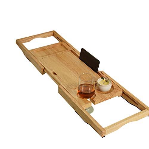 ZhaoLiRuShop Bathtub Trays Bath Caddy Bath Tray Bath Board Solid Wood Telescopic Non-Slip Bathtub Frame Mildew Bath Bracket Bath Tub Barrel Bath Bracket (Color : Natural, Size : 62.5-9520cm) by ZhaoLiRuShop (Image #6)