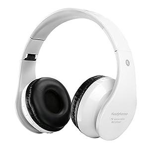Casque sans fil Bluetooth pour enfants Casques rechargeables rétractables Écouteur intra-auriculaire avec microphone intégré pour téléphones intelligents Tablet PC et autres périphériques Bluetooth blanc
