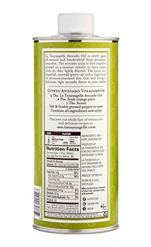 La Tourangelle Avocado Oil 25.4 Fl. Oz., All-Natural, Artisanal, Great for Salads, Fruit, Fish or Vegetables, Great Buttery Flavor by La Tourangelle (Image #3)