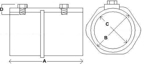Morris 14357 Malleable Rigid Set Screw Coupling, 3'' Thread Size
