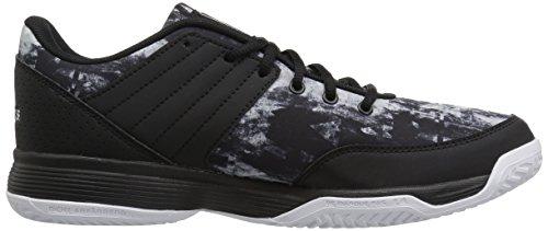 Adidas Women's Ligra 5 W Tennis-Shoes, White/Metallic Silver/Metallic Silver, 13 Medium US Black/Metallic Silver/White