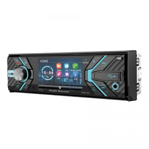 Power Acoustik PD-348B In-Dash 1-DIN 3.4'' LCD DVD Receiver with Bluetooth 4.0