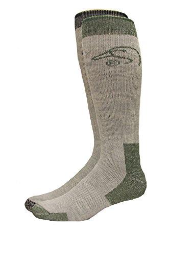 Boot Sock Blend (Ducks Unlimited Men's Full Cushion Wool Blend Boot Socks, Olive, Large)