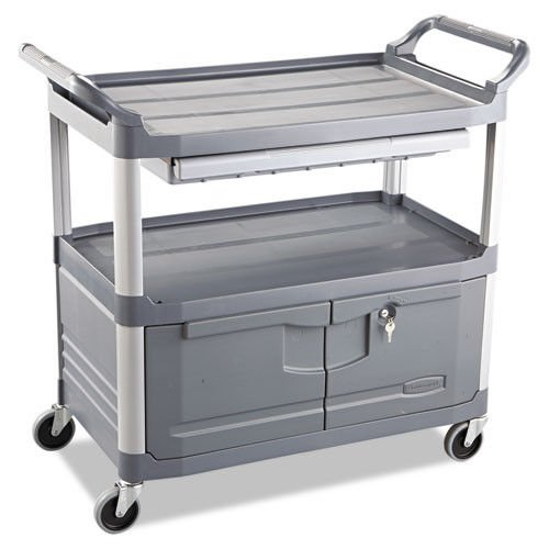 Rubbermaid Commercial Xtra Instrument and Utility Cart, Gray, FG409400GRAY by Rubbermaid Commercial Products
