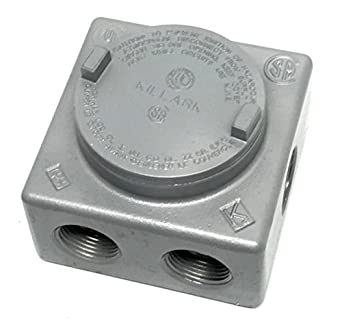 Killark GRSS-3 Iron Explosion Proof Junction Box with (7x) 1