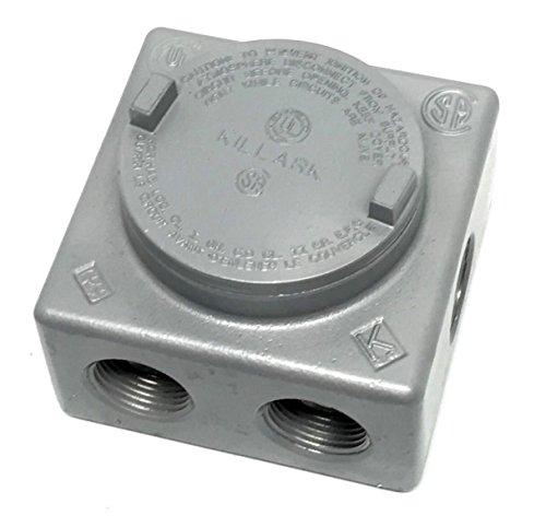 Explosion Proof Lighting (Killark GRSS-3 Iron Explosion Proof Junction Box with (7x) 1