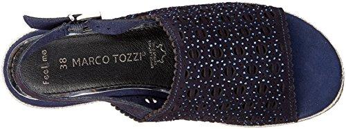 TOZZI Women's Navy Espadrilles 28613 Blue Navy Comb MARCO 890 Comb premio OqdUU