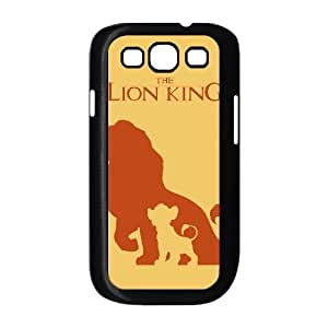 Funda Samsung Galaxy S3 9300 caja del teléfono celular Negro Funda rey león K6P4KB