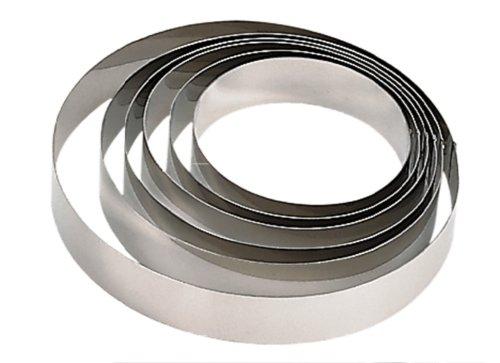 De Buyer - Anello per torte, in acciaio inox, altezza: 4,5cm, silver, Diamètre 5