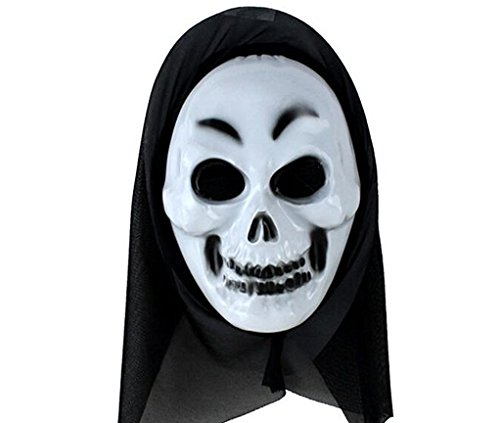 5 Pack Skeleton?Scary?Ghost Face Mask For Costume Masquerade Party, Halloween (Skeleton Halloween Mask)