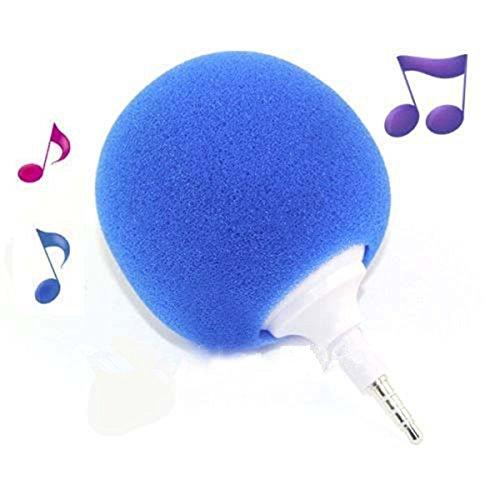 Blue Pixnor 3.5mm Mini Speaker Player for iPhone//Samsung Sponge Balloon Ball Style MP3 HTC//iPad MP4