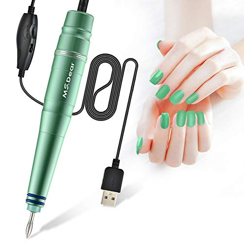 Nail Drill Machine MS.DEAR Portable Electric Nail Kit for Acrylic Gel Nails Manicure Pedicure Polishing Shape Tools Electric Nail Set Nail Drill for Home Salon