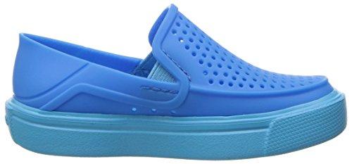 Crocs Kinder Unisex 204026 Mokassins Oxford, Blau (Ocean), 34/35 EU
