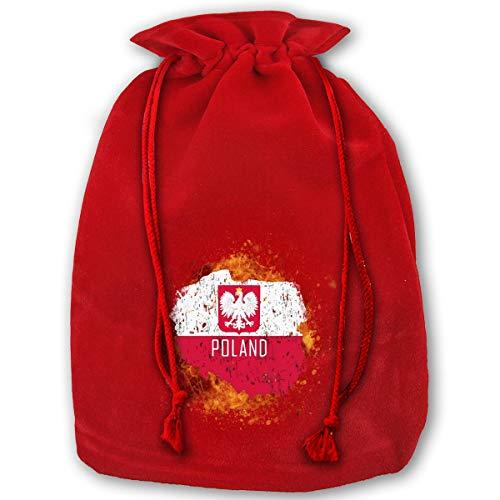 Arnold Glenn Splashing Poland Map Polish Flag Bags with Drawstring Large Size 17.7