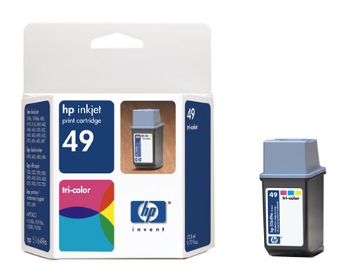 Hewlett Packard No. 49 Twin Pack Tri-Color Ink Jet Cartridge (51649A) PARENT