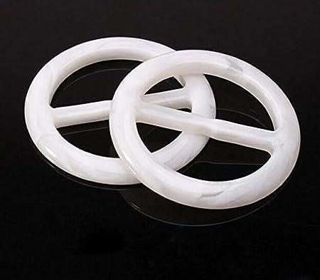6/pcs 5,1/cm Plastique Fluide Forme ronde Mode /Écharpe Clip V/êtements Bague Wrap support /Écharpe diapositives pour Twilly Foulard 5cm//2 Inch couleur al/éatoire