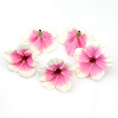 YUDX121 100pcs/lot Spring Silk Orchid Artificial Flower Heads Gladiolus Cymbidium Flowers for Wedding Decoration (Pink) (Pink Orchid Flower)