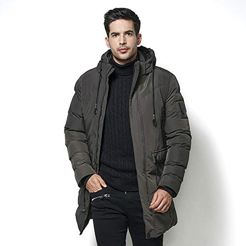 Cappotto Cappuccio Giacca Armygreen Antivento Tyjh Inverno Slim Cotone Caldo Uomo Pesante Con Di wUUH1xqC