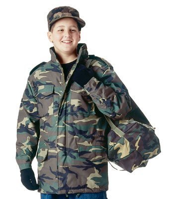 Rothco Kids M-65 Field Jacket W/Liner - Woodland, X-Small