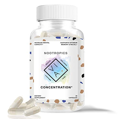 VIA Premium Nootropics for Increased Mental Capacity, Memory and Focus, Non-GMO, Vegetarian, Mind Enhancement, Energy, Gluten Free (30 Capsules)