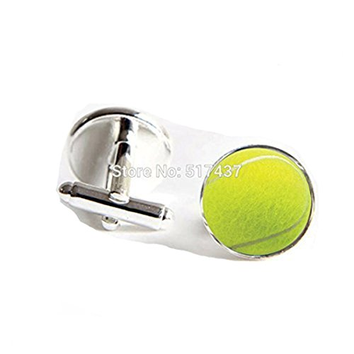 Tennis Ball Cufflinks Tennis Ball Cuff links Silver Shirt Cufflinks For Mens (Ball Cufflinks)
