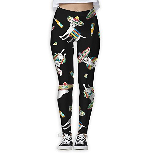 Native American Chihuahua Women Stretchy Workout Yoga Leggings Sport Tights Pants Great For Gym Fitness! American Chihuahua