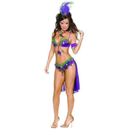[Mardi Gras Queen Costume - Medium - Dress Size 6-10] (Adult Womens Mardi Gras Queen Costumes)