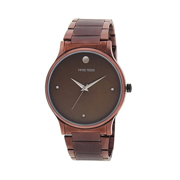 Swiss Trend Brown Dial Men's and Women's Couple Watch