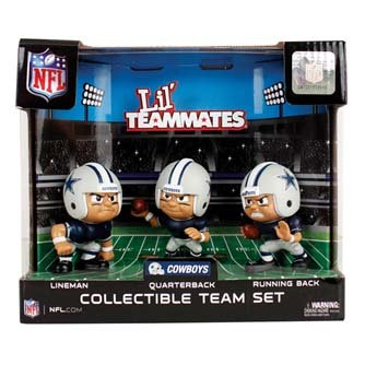 Dallas Cowboys Official NFL 2 inch x 2.5 inch x 3 inch Lil Teammates NFL Team Sets Toy Figures [Misc.] by Party Animal