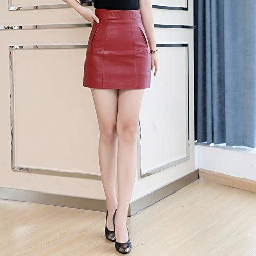 QBXDQ Falda Corta Spring Office Lady Falda Corta De Mujer Rojo ...