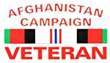"""AFGHANISTAN CAMPAIGN VETERAN CAMPAIGN RIBBON OUTSIDE DECAL 3""""X5"""""""