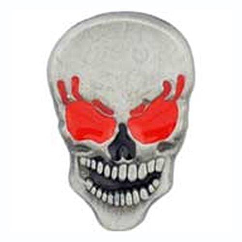 - Metal Lapel Pin - Bikes, Bones, & Pirate Pins - Red Eyes Skull Pin (Pewter 1