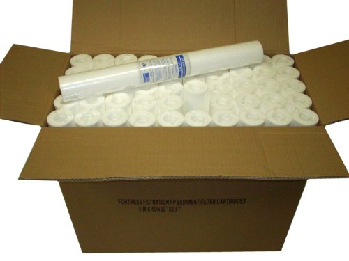 Wholesale Filters - Fortress Filtration Qty(25) Sediment 5 Micron 20