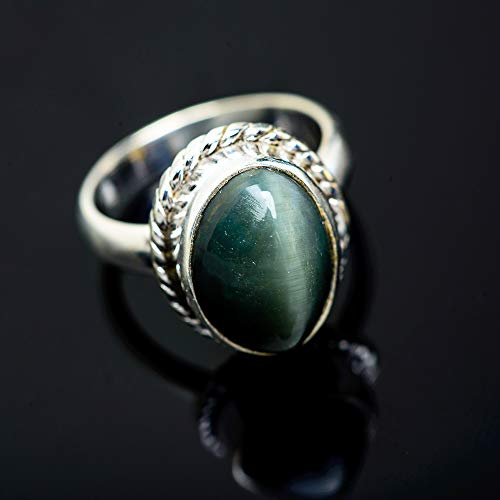 Ana Silver Co Cat's Eye Ring Size 7 (925 Sterling Silver) - Handmade Jewelry, Bohemian, Vintage RING952177