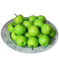 Voberry 50 Pcs Home Furnishing Artificial Apple Plastic Ecorative Fruit Photographic Props