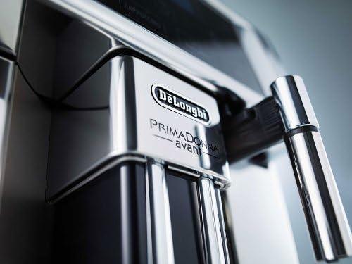 DeLonghi ESAM 6750 Machine à café PrimaDonna Avant 15 bar avec réservoir d'eau 1,8l et mousseur à lait