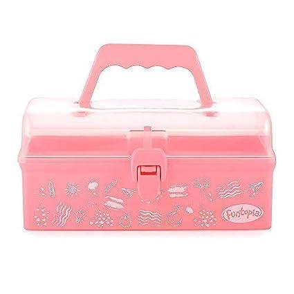 Amazon Com Funtopia Plastic Art Box For Kids Multi Purpose