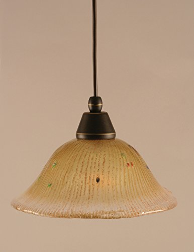 - 1 Light Any Cord Mini Pendant Finish: Dark Granite, Size: 10