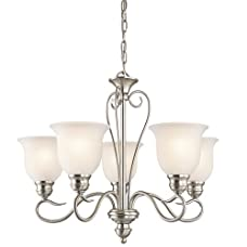 "Kichler 42906 Tanglewood Single-Tier Chandelier with 5 Lights - 72"" Chain Inclu,"