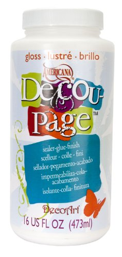 DecoArt 16-Ounce Decoupage Glue, Gloss Finish