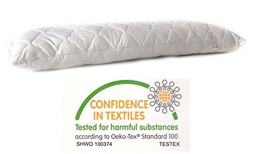 Seitenschläferkissen Schwangerschaftskissen 145x40cm Körperkissen Stillkissen Seitenkissen Microfaser Kissen Bett Füllung 1500 gramm