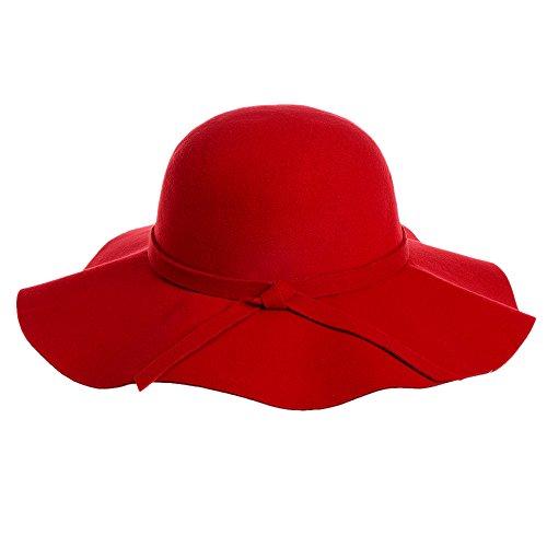 Vbiger Fedora Hat Floppy Hat Bowler Hat Wide Brim Hat Vintage for (Carmen Sandiego Costume)