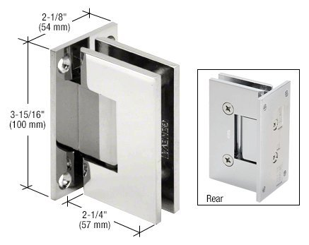 Crl Shower Door Hinge (CRL Vienna 037 Series Chrome Wall Mount Shower Door Hinge)